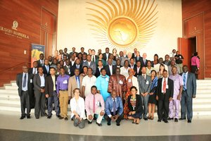 Attending the African Union Commission Meeting