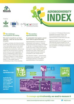 The Agrobiodiversity Index