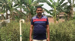 Ravinder Rai, farmer from Panapur, Bihar. Credit: Bioversity International/ S. Dsouza