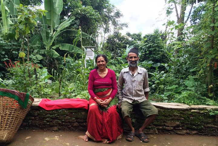 Surya and Sarawasti Adhikari on their biodiverse farm, Nepal.