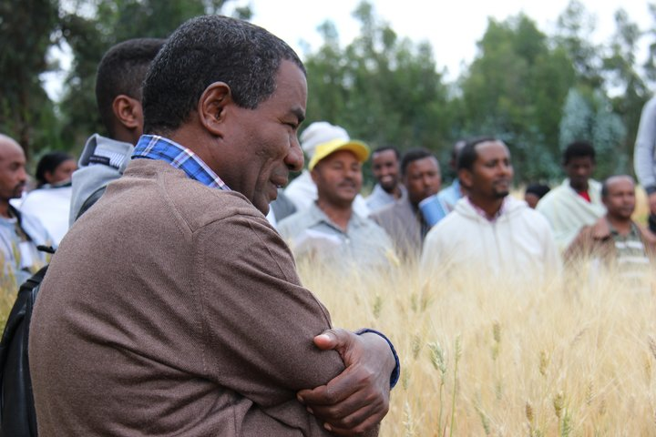Dr. Teshome Walle at the Seeds for Needs project site