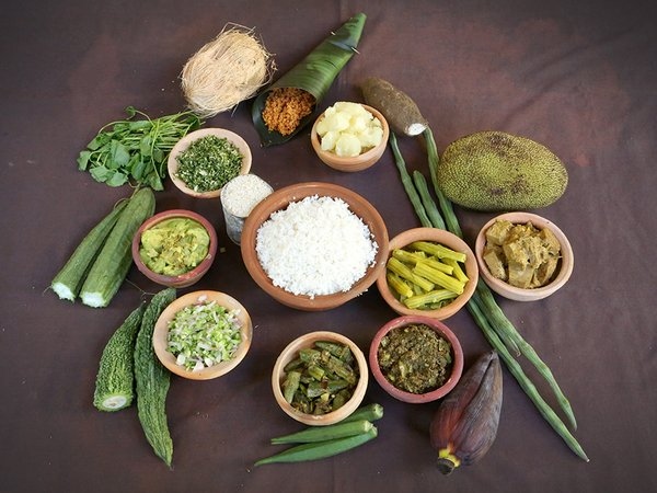 Traditional Sri Lankan dishes and vegetables. Credit: Bioversity International/S.Landersz