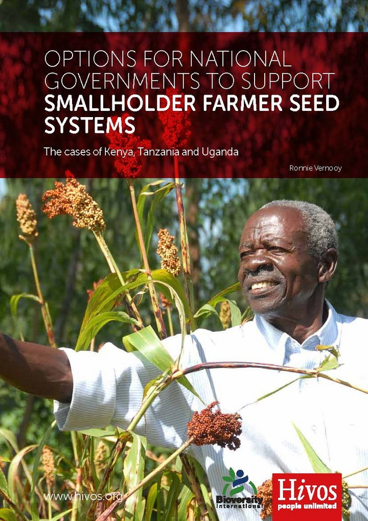 Options for national governments to support smallholder farmer seed