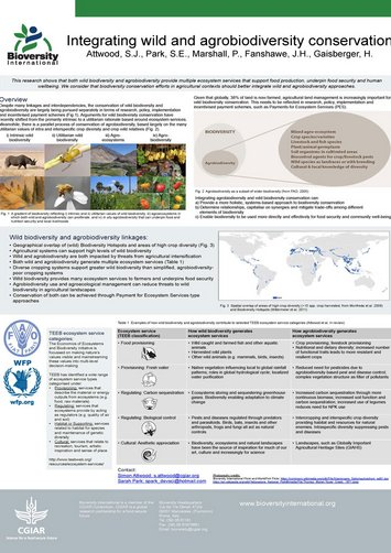 Integrating wild and agrobiodiversity conservation