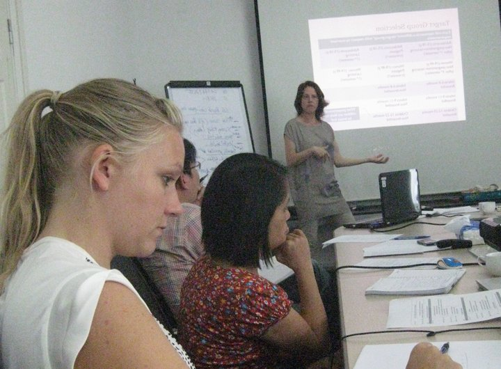 Jessica Raneri at the 24-hour recall workshop. Credit: Bioversity International