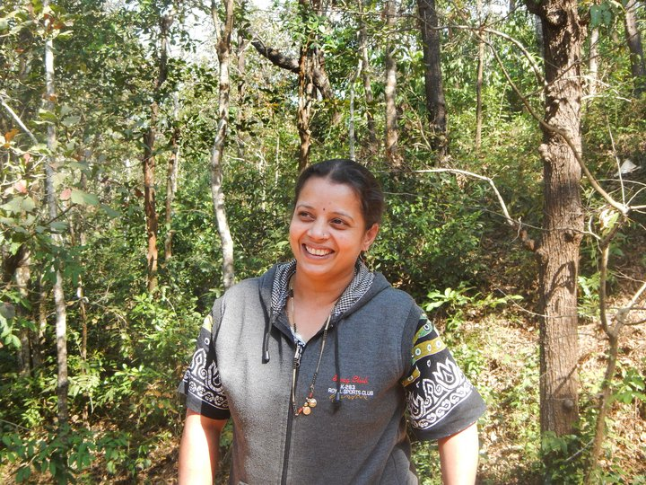 Ms Nagaveni Hegde, leader of the recently formed Matrabhoomi Women's Group. Credit: Bioversity International/M.Elias