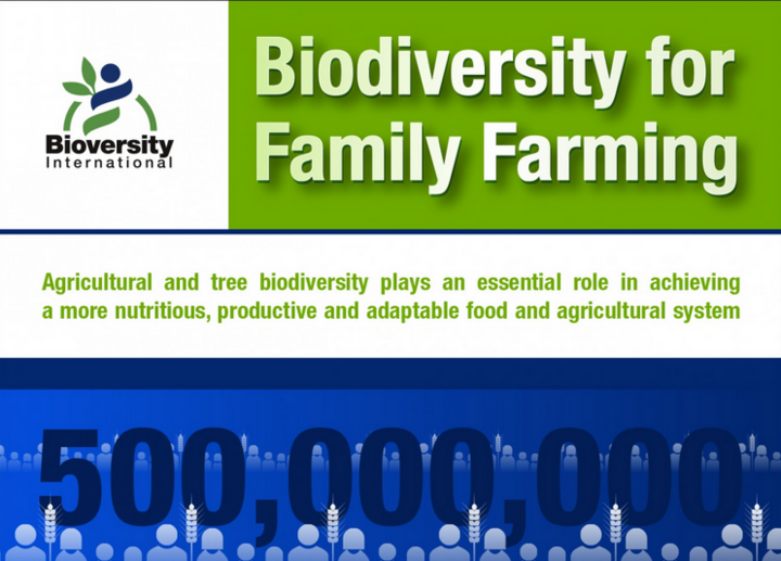 Bioversity International infographic on family farming for World Food Day