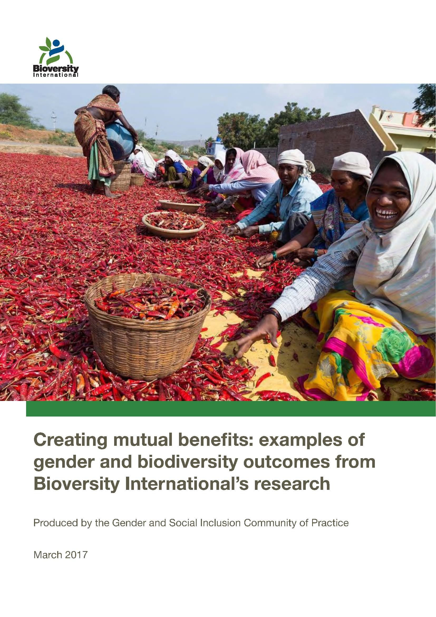 Creating Mutual Benefits Examples Of Gender And Biodiversity