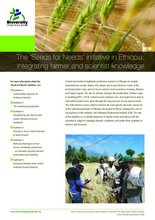Cover of factsheet: 'Seeds for Needs' initiative in Ethiopia: Integrating farmer and scientist knowledge. Credit: Bioversity International