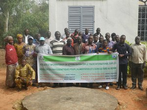 Participants at the Resilient seed systems and adaptation to Climate Change training course. Benin, 15-18, December 2015. Credit: Bioversity International/Wilfried Anagonou