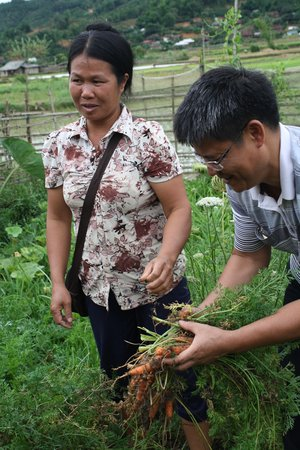 Over 80% of food consumed in households comes from home production, according to our studies in Vietnam. Credit: Bioversity International/J. Raneri