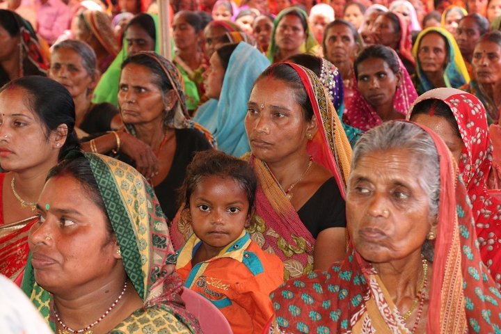 Women farmers at Farmers' Field Day at Vaishali, Bihar in April 2017. Credit: Bioversity International/S. Dsouza