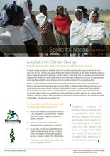 Cover of Seeds for Needs Policy Brief 1 - Adaptation to climate change. Credit: Bioversity International