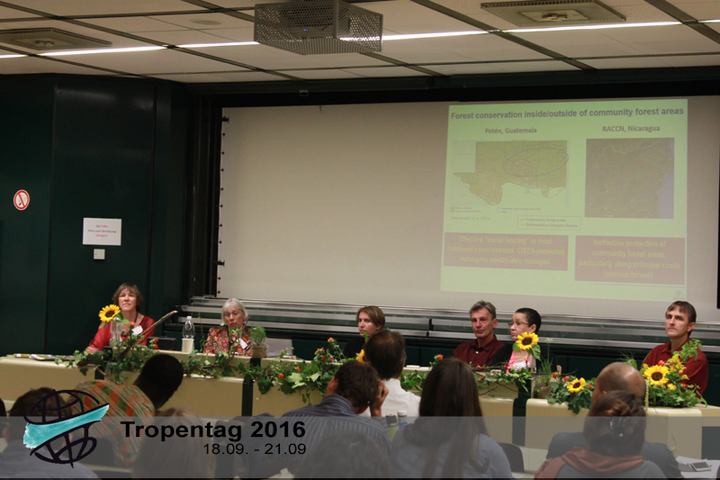 Panel session at the forests workshop. Credit: Tropentag