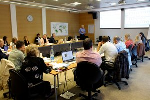 EAT, Stockholm Reslience Centre 2-day writeshop held October 2015 at Bioversity International HQ - Healthy People, Healthy Planet. Credit: Bioversity International/L. Hook
