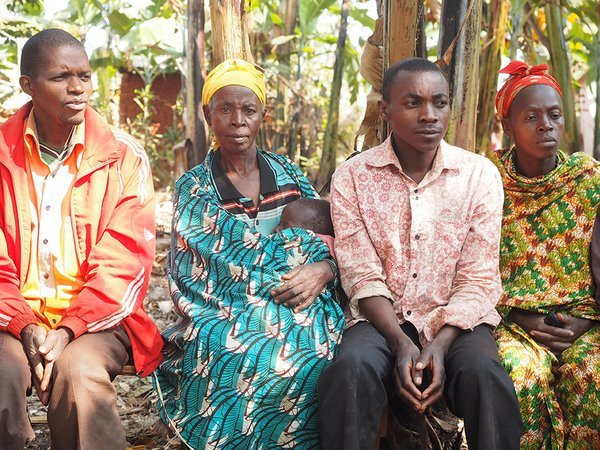 Farmers participating in a focus group in Burundi. Credit: Bioversity International/F. Iradukunda
