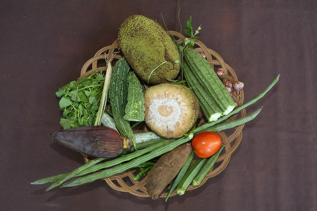 Traditional and wild crops used in Sri Lankan cuisine. Credit: Bioversity International\S.Landersz