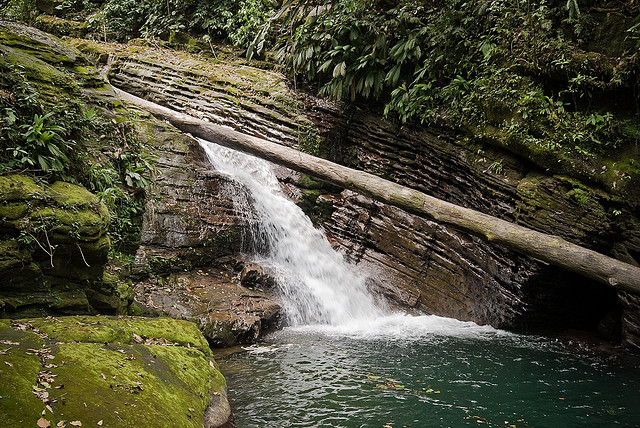 Waterfall in Pacuare River, Costa Rica. Credit: kele dobrinski