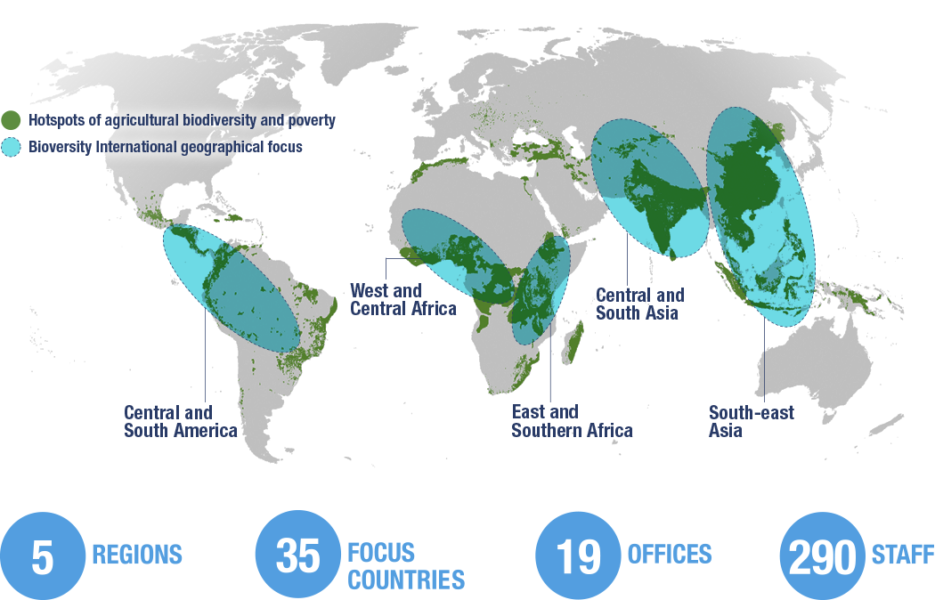Where we work - Bioversity International